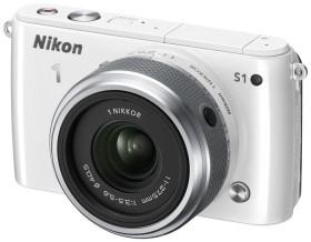 Nikon 1 S1 weiß mit Objektiv 11-27.5mm 3.5-5.6 (VVA192K005)