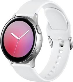 Wepro Silikonarmband S für Samsung Galaxy Watch Active 2 40mm weiß
