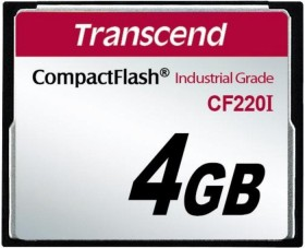 Transcend R39/W42 CompactFlash Card [CF] Industrial CF220I 4GB (TS4GCF220I)