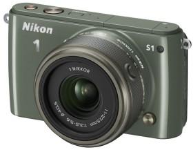 Nikon 1 S1 khaki mit Objektiv 11-27.5mm 3.5-5.6 (VVA195K005)