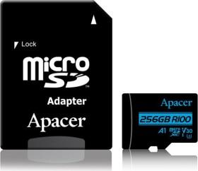 Apacer R100/W80 microSDXC 256GB Kit, UHS-I U3, A1, Class 10 (AP256GMCSX10U7-R)