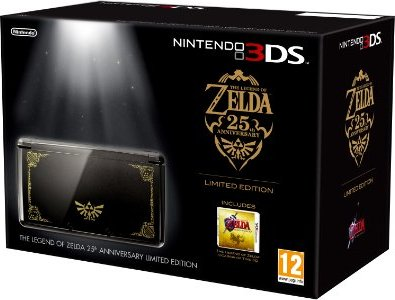 Nintendo 3DS Grundgerät, The Legend of Zelda: Ocarina of Time Limited Edition Bundle, schwarz/gold -- via Amazon Partnerprogramm