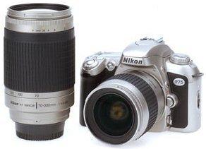 Nikon F75 (SLR) Super zestaw z obiektywem AF 28-80mm i AF 70-300mm