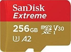 SanDisk Extreme R160/W90 microSDXC 256GB Kit, UHS-I U3, A2, Class 10 (SDSQXA1-256G-GN6MA)