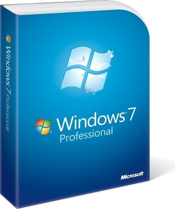 Microsoft: Windows 7 Professional 64bit, DSP/SB, 3-pack (various languages)
