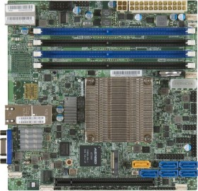 Supermicro X10SDV-4C-TLN2F-O<br>Supermicro X10SDV-4C-TLN2F Server-/Workstation-Motherboard BGA 1667 mini-ITX - Server-/Workstation-Motherboards (Intel, BGA 1667, 45 W, D-1500, DDR4-SDRAM, 1600,1866,2133 MHz)