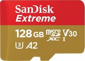SanDisk extreme R160/W90 microSDXC 128GB kit, UHS-I U3, A2, Class 10 (SDSQXA1-128G-GN6MA)