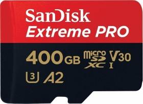SanDisk extreme PRO R170/W90 microSDXC 400GB kit, UHS-I U3, A2, Class 10 (SDSQXCZ-400G-GN6MA)