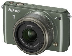 Nikon 1 S1 khaki mit Objektiv 11-27.5mm 3.5-5.6 und VR 30-110mm 3.8-5.6 (VVA195K007)