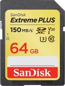 SanDisk Extreme PLUS R150/W70 SDXC 64GB, UHS-I U3, Class 10 (SDSDXW6-064G-GNCIN)