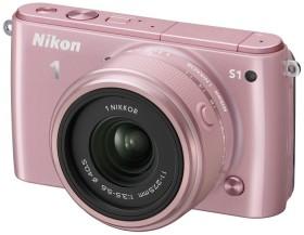 Nikon 1 S1 pink mit Objektiv 11-27.5mm 3.5-5.6 und VR 30-110mm 3.8-5.6 (VVA194K007)