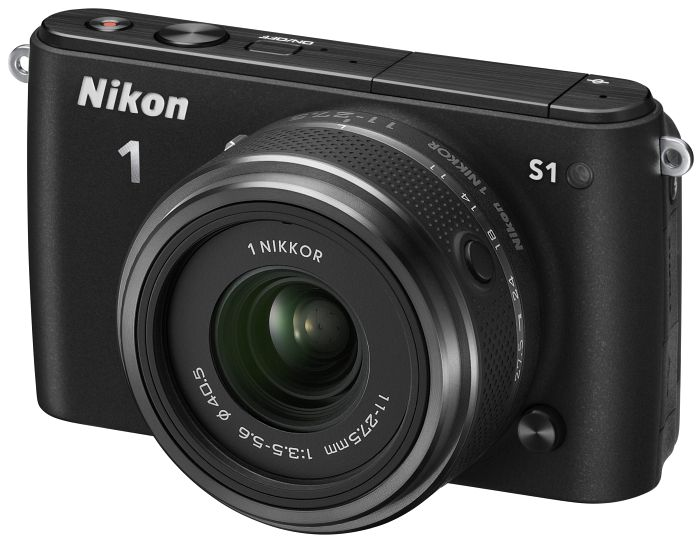 Nikon 1 S1 black with lens 11-27.5mm 3.5-5.6 and VR 30-110mm 3.8-5.6 (VVA191K007)