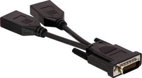 Lindy DS-59M Adapter, DS-59M Stecker auf 2x DisplayPort Buchse (41084)