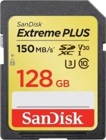 SanDisk Extreme PLUS R150/W70 SDXC 128GB, UHS-I U3, Class 10 (SDSDXW5-128G-GNCIN)