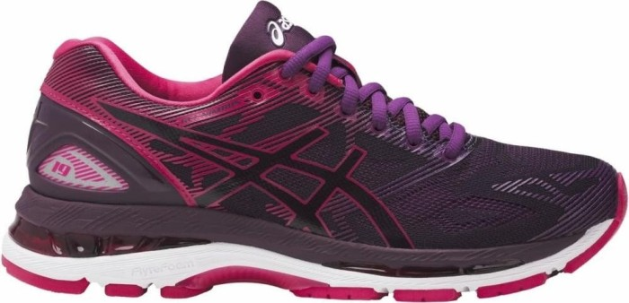 Asics Gel-Nimbus 19 black/cosmo pink/winter bloom (Damen) (T750N-9020)