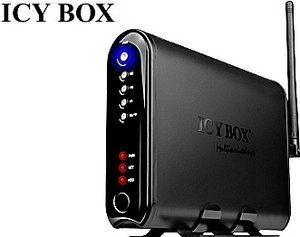 RaidSonic Icy Box IB-MP308HW-B, USB 2.0, LAN/WLAN 54Mbps (25309)