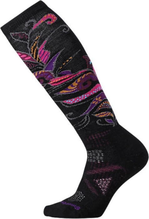 329c625708e Smartwool Phd Ski Medium Pattern ski socks black berry (ladies) (SW015018-