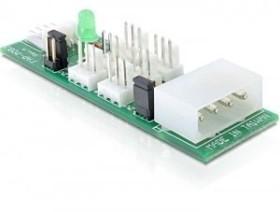 DeLOCK 4-Pin-Molex auf 6x 3-Pin-Lüfter Adapter 5V/12V (25218)