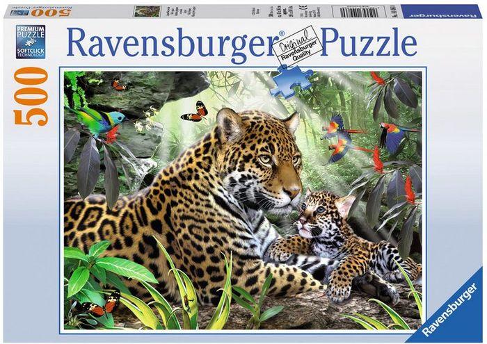 Puzzle 500 Teile Spiel Deutsch 2014 Jaguar Nachwuchs Geduldspiel