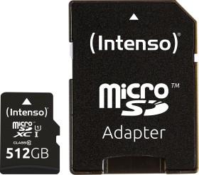 Intenso Premium R45 microSDXC 512GB Kit, UHS-I U1, Class 10 (3423493)