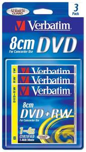 Verbatim DVD+RW 1.4GB 4x, 3er-Pack (43594)