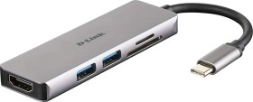 D-Link 5-in-1 USB-C Hub with HDMI/card reader (DUB-M530)
