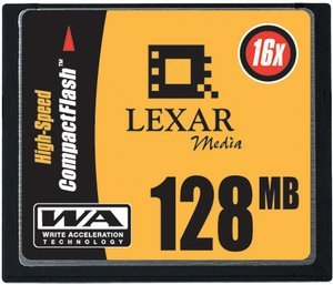 Lexar CompactFlash Card (CF) HighSpeed 16x 128MB (CF128-16)