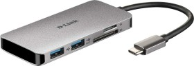 D-Link 6-in-1 USB-C Hub with HDMI/card reader/Power Delivery (DUB-M610)