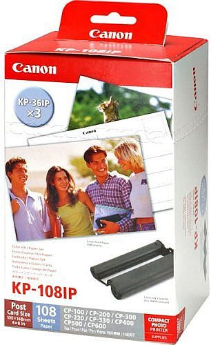 Canon KP-108IP photo paper 10x15cm incl. ink (9585A001)