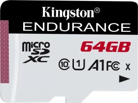 Kingston High Endurance R95/W30 microSDXC 64GB, UHS-I U1, A1, Class 10 (SDCE/64GB)