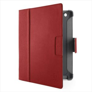 Belkin new iPad Cinema leather Folio red (F8N757CWC01)