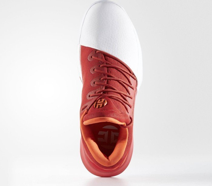 new arrival a793f 28488 adidas Harden Vol. 1 scarlet footwear white energy (men) (BW0547)
