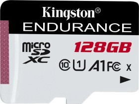 Kingston High Endurance R95/W45 microSDXC 128GB, UHS-I U1, A1, Class 10 (SDCE/128GB)