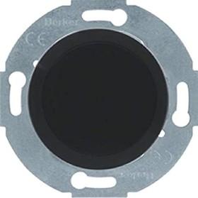 Berker Serie 1930/Glas/Palazzo Blindverschluss mit Zentralstück, schwarz glänzend (67100921)
