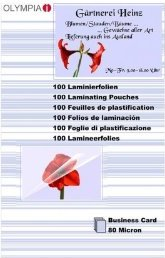 Olympia Laminierfolie 60x95mm, 2x 80 micron, 100 Stück (9169) -- via Amazon Partnerprogramm