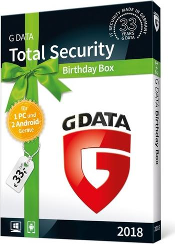 GData Software Total Security 2018 - Birthday Box (deutsch) (PC)  (C1803BOX121U2GE)
