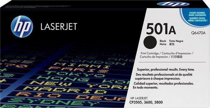HP Toner 501A schwarz (Q6470A)