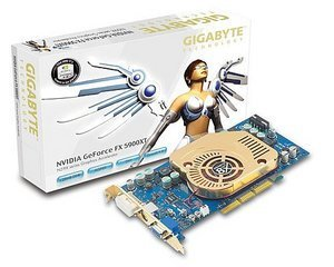 Gigabyte GV-N59X128D, GeForceFX 5900XT, 128MB DDR, DVI, TV-out. AGP