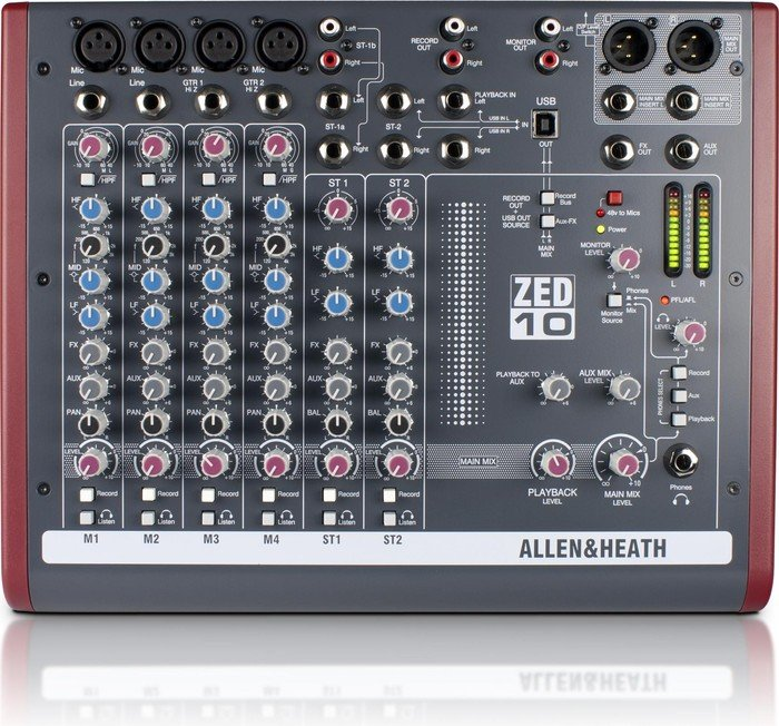 Allen&Heath ZED-10 analog mixer, USB