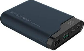 RealPower 282240<br>RealPower PB-10000 PD - Navy - universal - rectangle - 10000 mAh - USB - 5 - 12 V<br>(Art# 282240)
