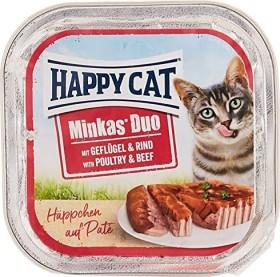 Happy Cat Duo Geflügel und Rind 1.2kg (12x 100g)
