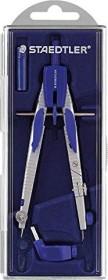 Staedtler Mars comfort 553 Schnellverstellzirkel, Universaladapter, silber/blau (553 01)