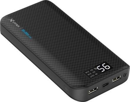 XLayer Powerbank Pure Carbon 20000 schwarz (214415)