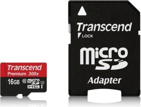 Transcend Premium R45 microSDHC 16GB Kit, UHS-I, Class 10 (TS16GUSDU1)