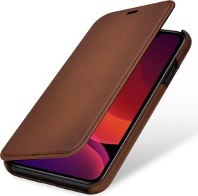 Stilgut Book Type Leather Case für Apple iPhone 11 braun (B07XRND5VR)