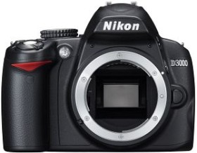 Nikon D3000 schwarz Body (VBA250AE)