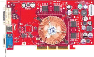 MSI FX5200-TD128, GeForceFX 5200, 128MB, VGA, DVI, TV-out, AGP (MS-8907/MS-8911-030)