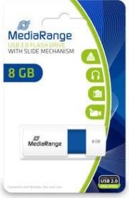 MediaRange USB Speicherstick Color Edition 8GB weiß/blau, USB 2.0 (MR971)