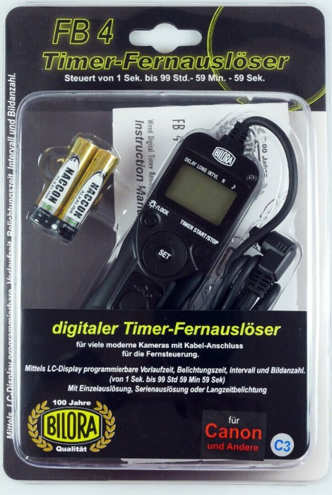 Bilora FB4-C3 Digitaler Timer-Fernauslöser für Canon -- via Amazon Partnerprogramm