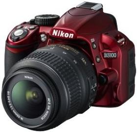 Nikon D3100 rot mit Objektiv AF-S VR DX 18-55mm 3.5-5.6G (VBA281K001)